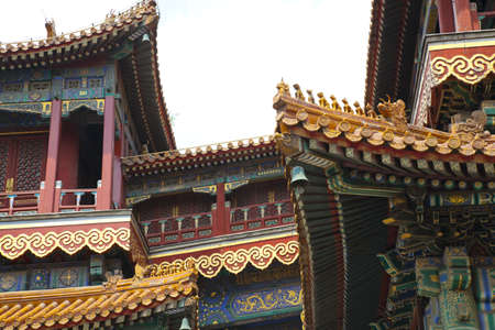 the roofs of Chinese pagoda photo