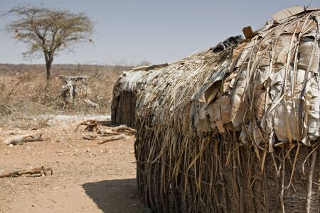 village hut in Kenya Stock Photo - 15459533