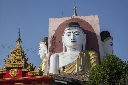 Myanmar, el templo del Buda de cuatro
