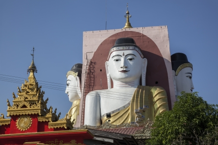 Myanmar, the four buddha temple Stock Photo