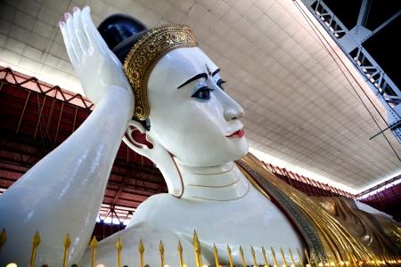 Myanmar statue of the Reclining Buddha Stock Photo
