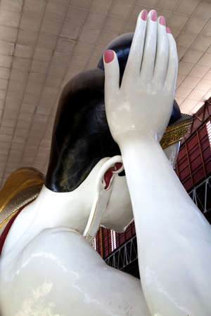 Myanmar statue of the Reclining Buddha photo