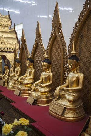 Myanmar, el templo del Buda Foto de archivo