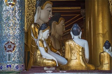Myanmar, Buddha Temple Stock Photo