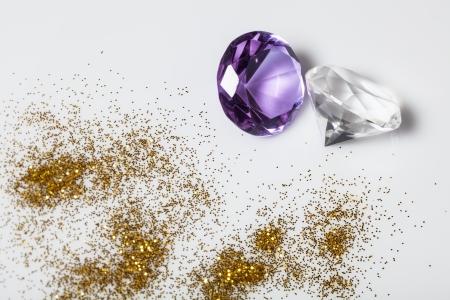 Diamonds close-up