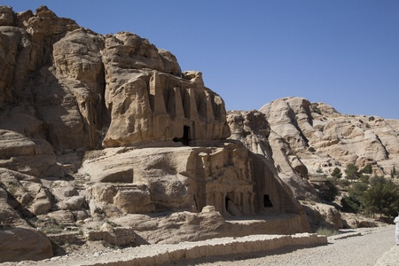 The city of Petra in Jordan photo