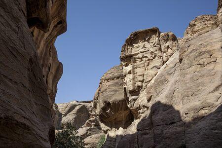 The city of Petra in Jordan
