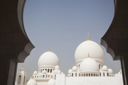 Abu Dhabi, la Mezquita Foto de archivo