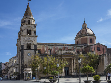 Cathedral of Acireale in Sicily, Italy Editorial