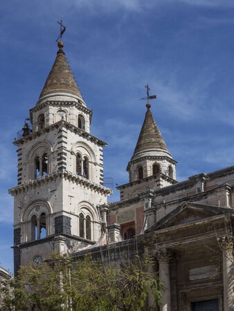 Cathedral of Acireale in Sicily, Italy Stock Photo