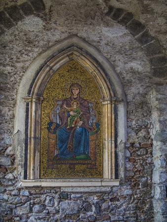 Ancient mosaic in the church