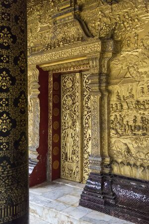 Ancient temple in Laos Stock Photo