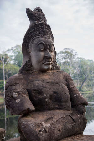 demons: Cambogia, ancient statue angels and demons