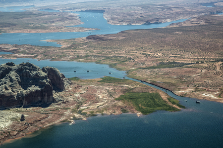 lake powell: Aerial Photo, Lake Powell, Utah and Arizona