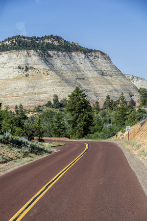 Wiew of road in Utah, USA