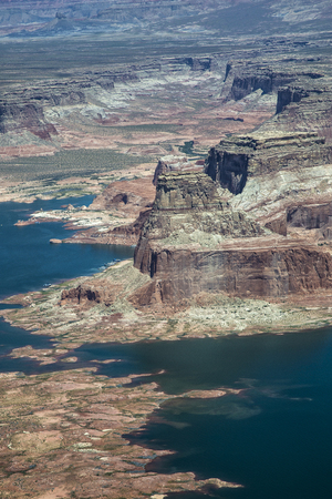 Aerial Photo, Lake Powell, Utah and Arizona