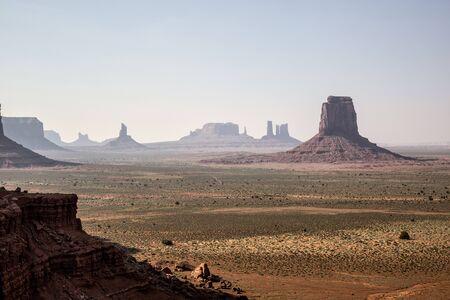 Monument Vallei, Utah and Arizona USA, panorama