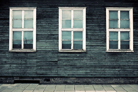 barracks: The windows of the barracks of Mauthausen