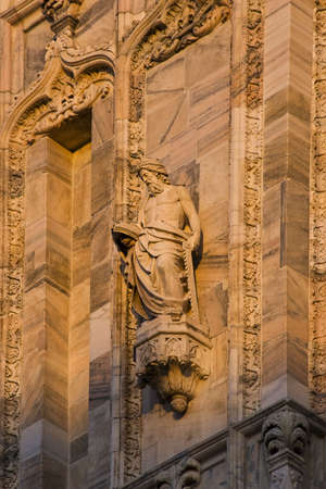 Sculptures of the cathedral of Milan (Duomo)