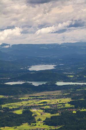 Austrian Landscape  Carinthia, Austria  Stock Photo