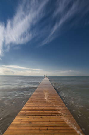Long Wood Pier on Mediterranean Sea