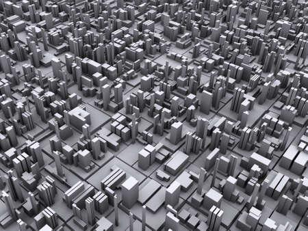 Conceptual illustration of modern city and metropolis