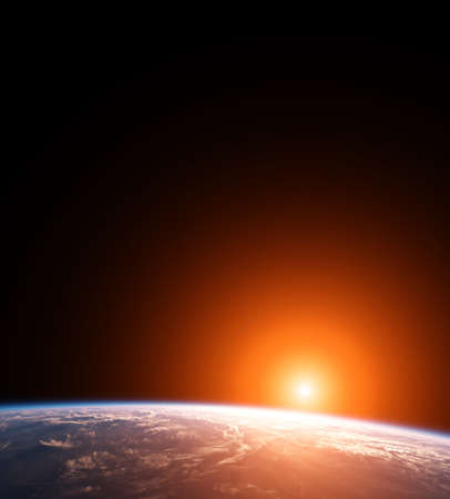 Rising Sun on Planet Earth photo