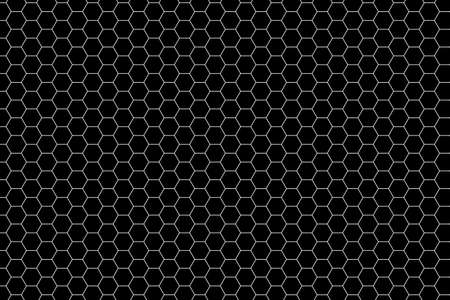 Seamless Black Hexagon Pattern photo