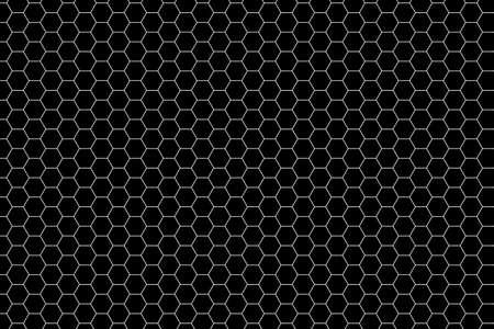 Seamless Black Hexagon Pattern Stock Photo