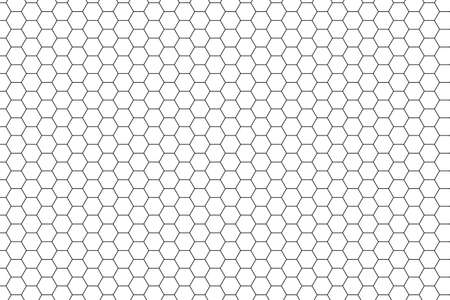 Seamless White Hexagon Pattern