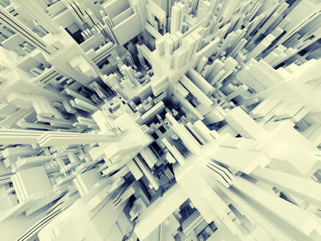 3D Abstract Modern Structure Stock Photo