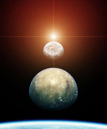alineaci�n: Planeta Alineaci�n con sol naciente