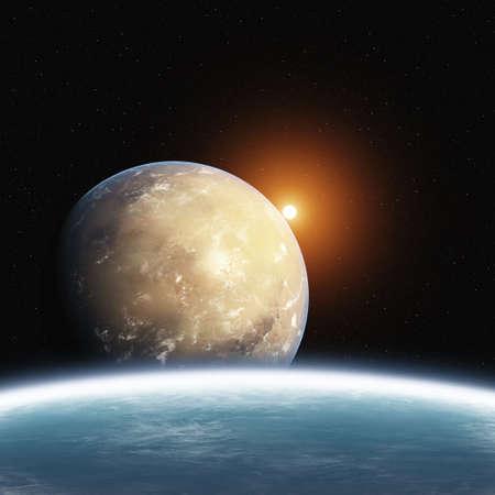 mars: Podwyżkę Planet Desert z Ziemią i Słońcem