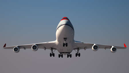Large Jumbo Jet is landing photo