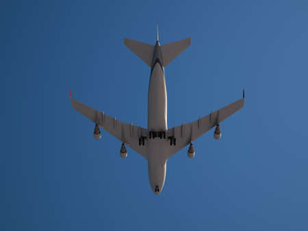 Large Jumbo Jet isolated on clear and blue Sky photo
