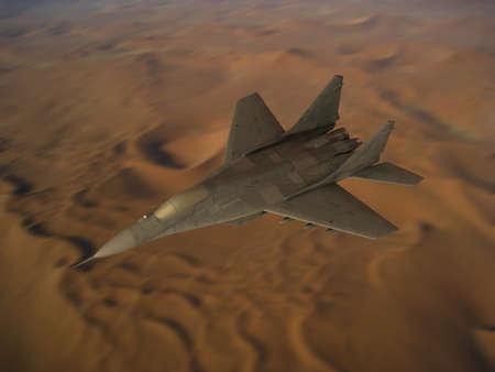 mig: War Fighter Mig above Lybian Desert