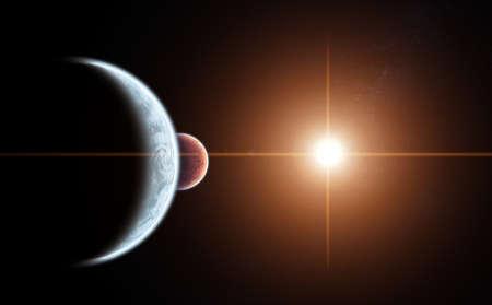 alineaci�n: Planet alineaci�n con Sol naciente