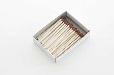 matchstick: Matchstick Box on white background Stock Photo