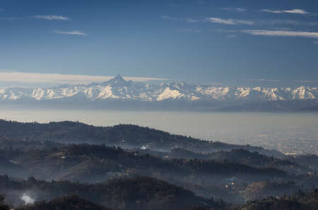 Panoramic View of Turin City from Superga Hill