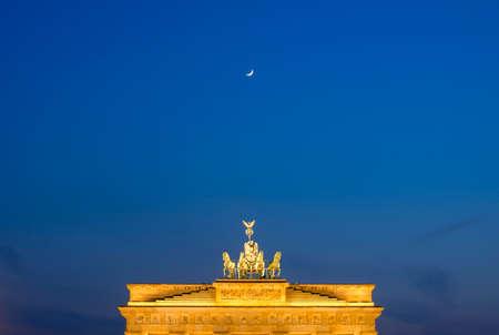 Moon over Brandeburg Gate, Berlin