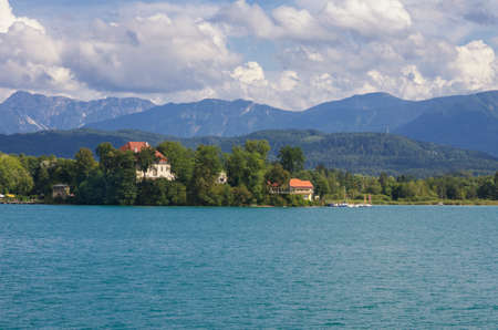 Lake of Worthersee, view from Portschach (Carinthia, Austria)