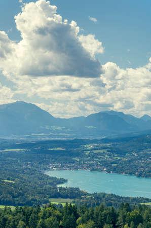 Panoramic View of Lake Worthersee (Carinthia, Austria) photo