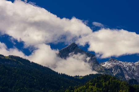 View of the Zugspitze, the highest mount of Germany