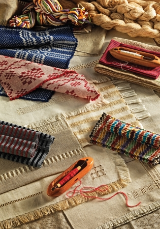 the textile industry: tools and woven traditional textile industry