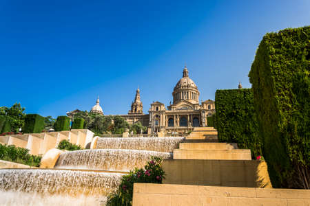 montjuic: View of the Montjuic palace in Barcelona