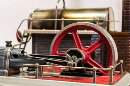 flywheel: Close up of the flywheel of a steam engine Stock Photo