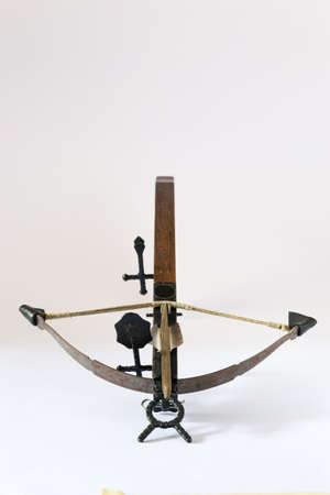crossbow: wooden crossbow made in Italy