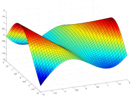 statics: Abstract three-dimensional graph with colors Stock Photo