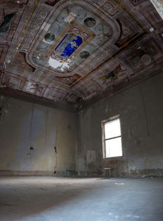 madhouse: Interiors of an abandoned madhouse in the downtown Stock Photo