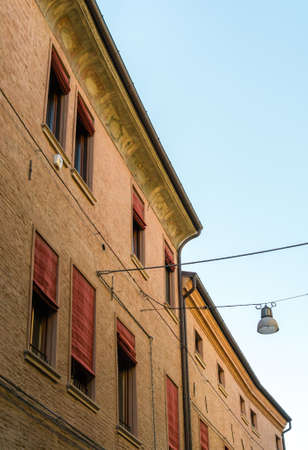 ferrara: Ancient house in the medieval downtown of Ferrara Editorial